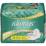 Always Ultra Thin Regular with Flexi-Wings Pads - 18 ct pack
