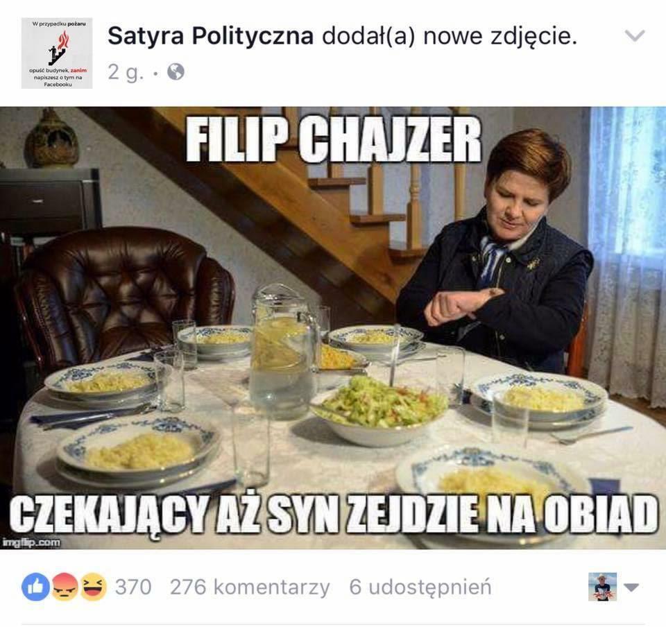 """Szokujący mem opublikowany przez """"Satyrę Polityczną"""""""