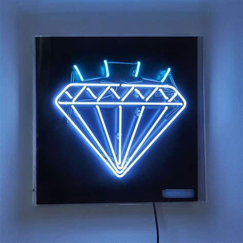 diamond neon light sign by brilliant neon