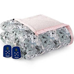 Cat Collage Micro Flannel Reverse to Sherpa Electric Blanket - Queen