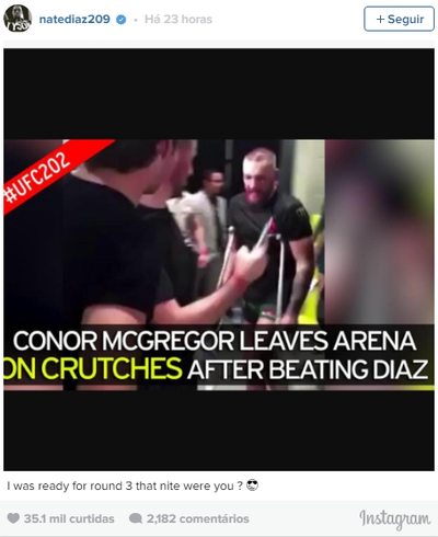 Nate Diaz UFC MMA (Foto: Reprodução / Twitter)