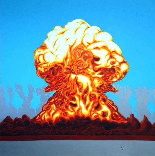 Estudo para explosão 2, 2010 - Study for explosion 2 Acrílica sobre tela -Acrylic on canvas 120 x 120cm Coleção particular - SP - Private collection - Sao Paulo
