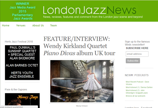 More news…London Jazz News hosts an interview with me plus gig previews…