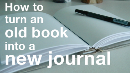 Tutorial - How to Turn and Old Book into a New Journal