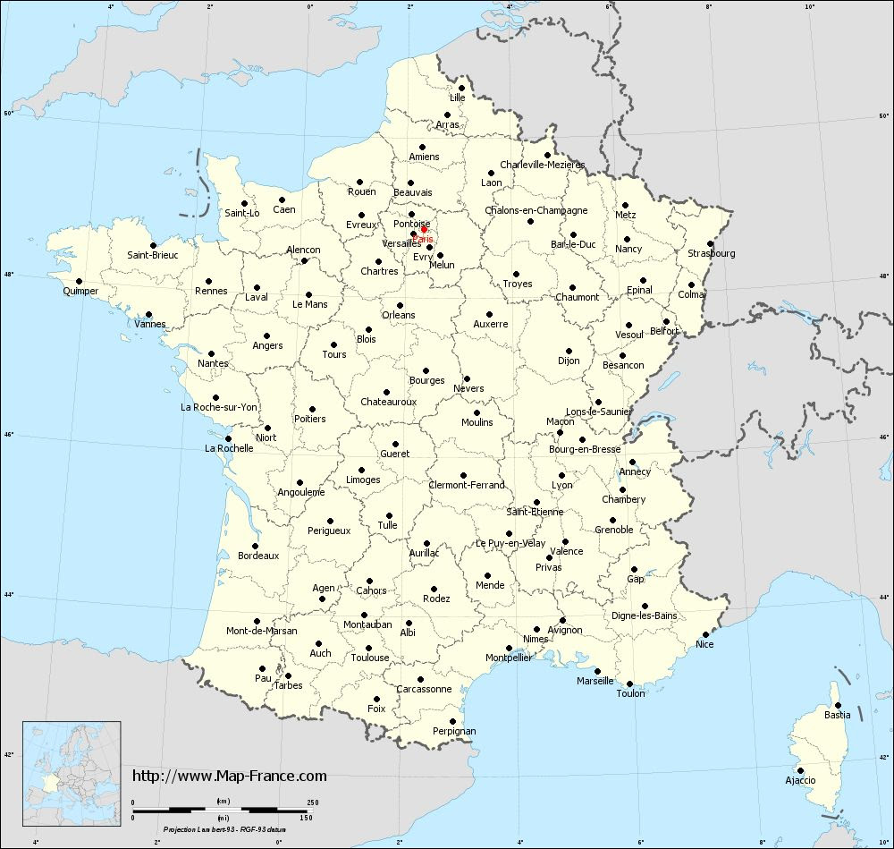 French Paris Map | World Map Interactive