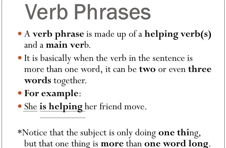 36 INFO 3 EXAMPLE OF VERB PHRASE WORKSHEETS DOWNLOAD PDF ZIP