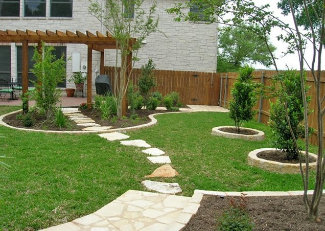 Landscape plans: Garden patio area ideas