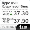 Кредитвест банк курс доллара