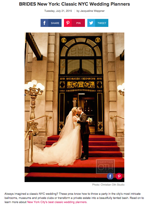 BRIDES: Classic NYC Wedding Planners