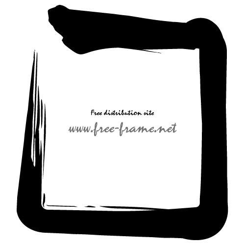 筆で書いたような円フレーム 無料商用可能枠フレーム素材配布