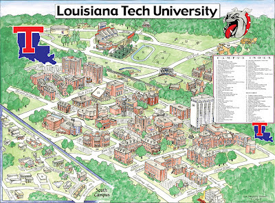 La Tech Campus Map La Tech Campus Map | Earth Map