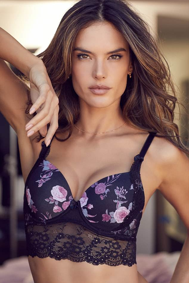Confident: Alessandra explained 'Because whoever loves himself or herself and is happy and self-confident about it, can actively share this joy with others