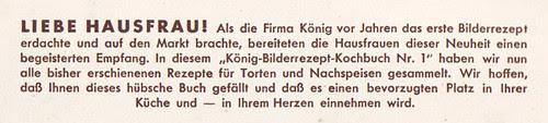 König-Bilderrezept-Kochbuch 1: Vorwort