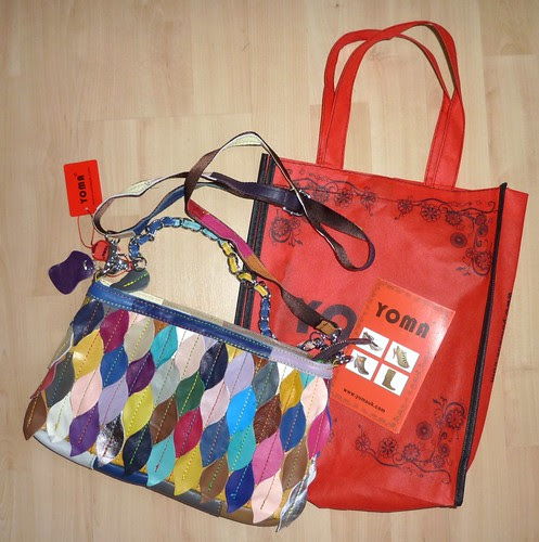 15 - Multi-Coloured Leather Handbag YOMA
