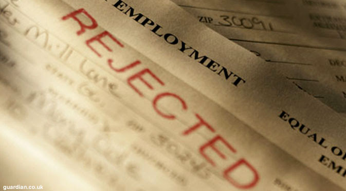 Image result for employment rejection
