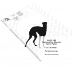 Greyhound Dog Silhouette Yard Art Woodworking Pattern - fee plans from WoodworkersWorkshop® Online Store - Greyhound dogs,pets,animals,yard art,painting wood crafts,scrollsawing patterns,drawings,plywood,plywoodworking plans,woodworkers projects,workshop blueprints