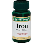 Natures Bounty Iron, 65 mg, Tablets - 100 tablets
