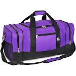 """Everest 25"""" Sporty Gear Duffel Bag, Dark Purple"""