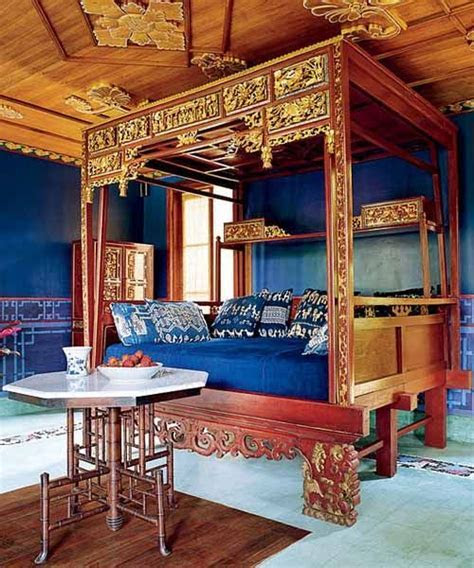 Chinese Indonesian Wedding Bed with Sumba Ikat pillows