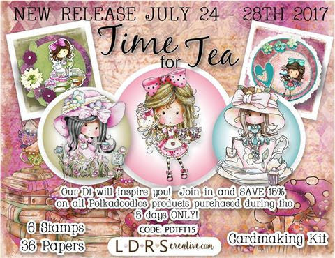 LDRS Creative: Polkadoodles new release, It's Time for Tea!