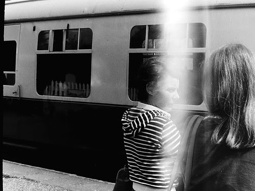 French women at Dartington train station 1977 by 35mm_photographs