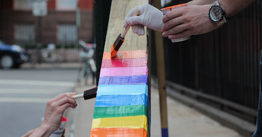 Someone Chained A Cross To Gay Street In NY. What Happened Next Was Beautiful.