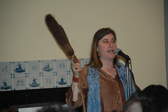 Louise Crawford, keeping time with the broom