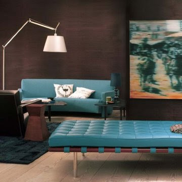 Blue and Brown Interiors | Manolo for the Home