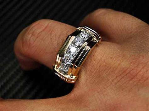 mens diamond wedding ring gold   Wedding   Dresses   Cakes