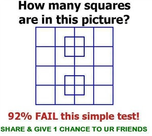 puzzle - How many squares actually ARE in this picture? Is ...