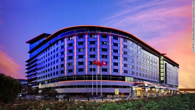 The Regal Airport Hotel in Hong Kong is connected to the terminal by an enclosed, climate-controlled bridge.