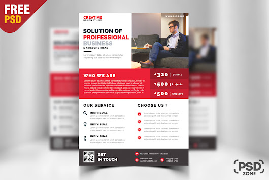 Business Promotion Flyer PSD Template - PSD Zone