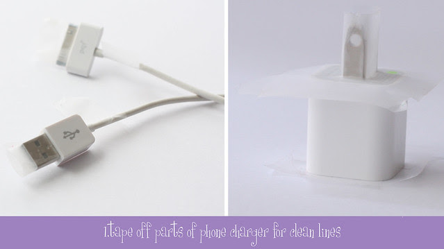 glitter charger diy 3