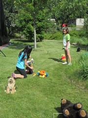 Olivia Playing Animal Croquet