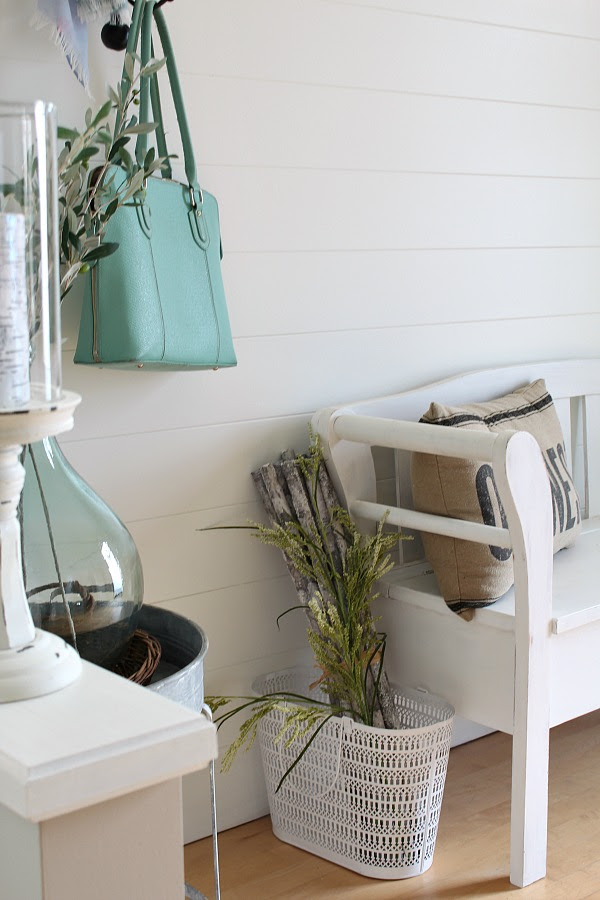 Easy DIY planked wall tutorial using trim - an inexpensive way to add that farmhouse style to your home.