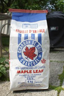 Maple Leaf charcoal from Quebec.