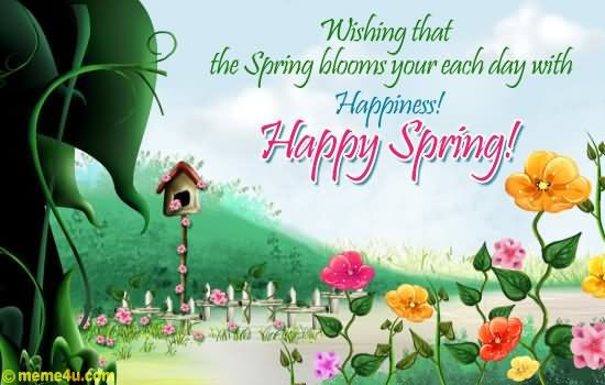 Wishing That The Spring Blooms Your Each Day With ...