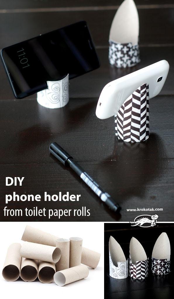 Krokotak How To Make Phone Holder From Toilet Paper Rolls