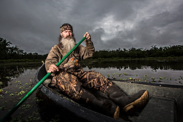 HANDOUT IMAGE: Phil Robertson in A&E's 'Duck Dynasty' returning for season 4 August 14 at 10PM ET/PT. (Photo by Karolina Wojtasik Copyright 2013)