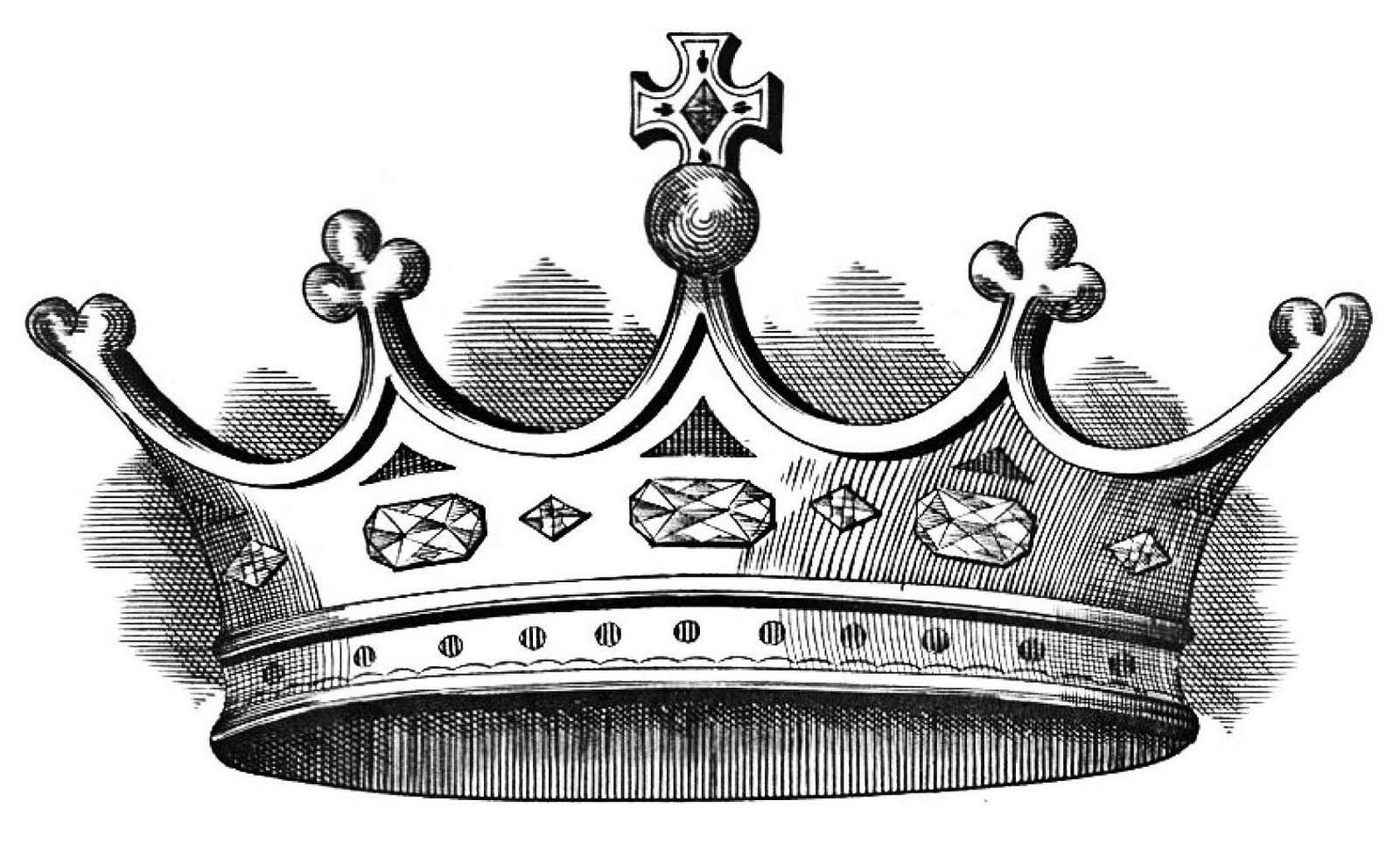 Crown Black And White King Crown Clip Art Black And White 3