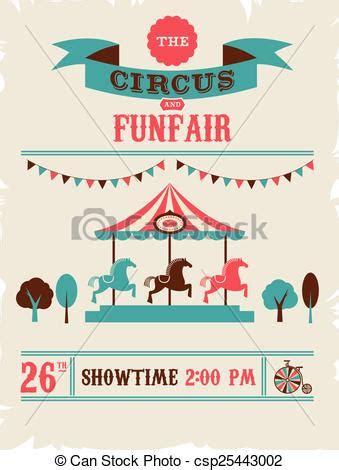 vintage poster  carnival fun fair circus vector