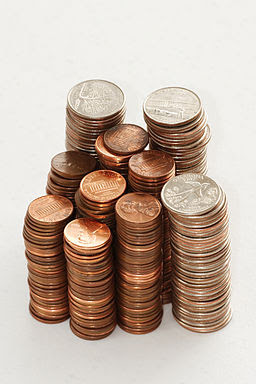 Stack of coins 0214