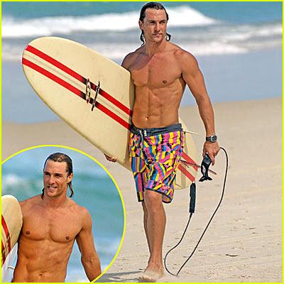 La nueva película de McConaughey va de surf