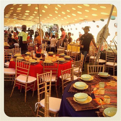 Traditional African wedding centerpieces and decor. www