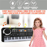 AurouraX Musical Mic 61Key Piano Electronic Portable Instrument Kid Keyboard Toy