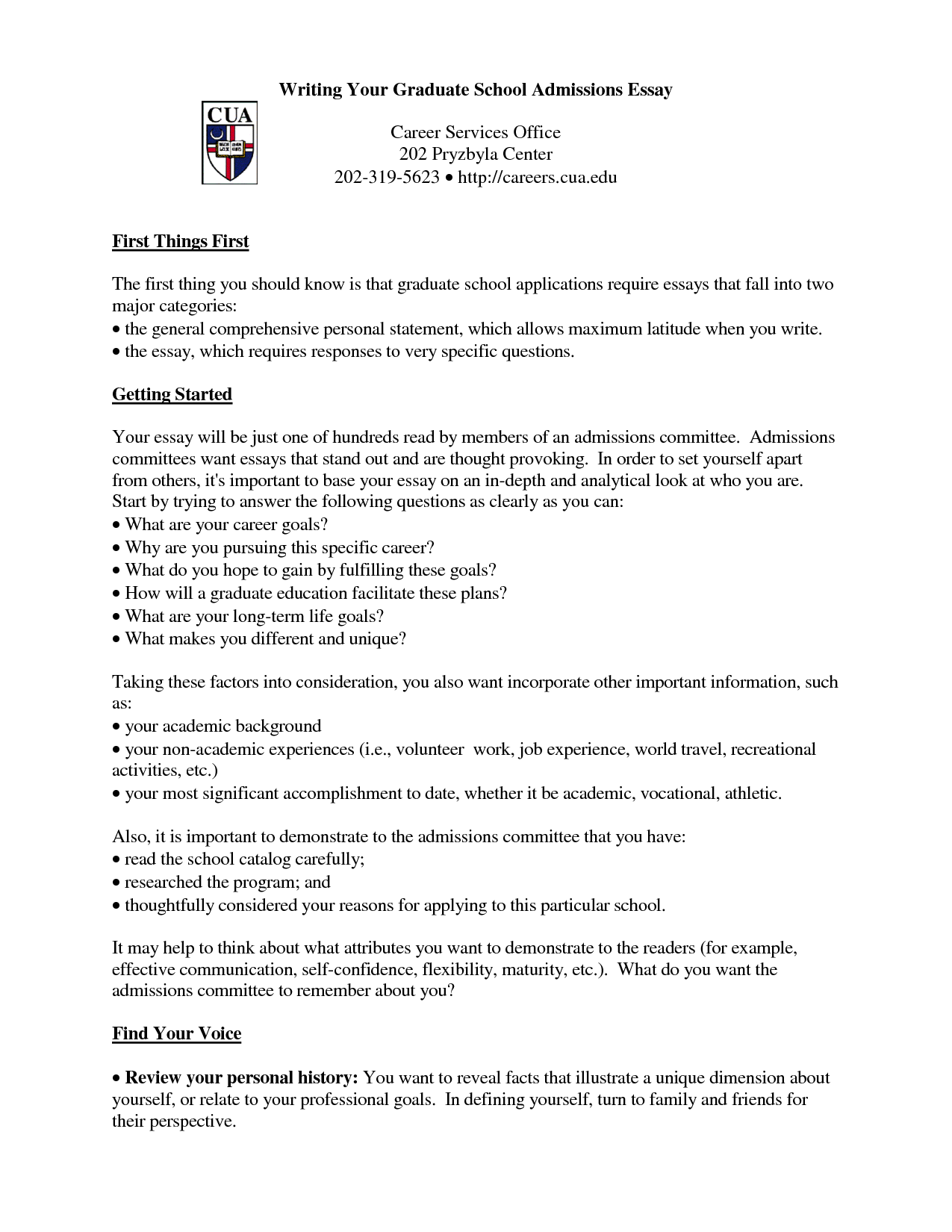 how to write a grad school application essay