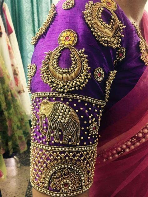 474 best images about Aari work on Pinterest   Blouse