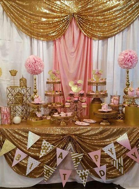 Fiesta temática de minnie rosa y dorado   Tendencias 2018