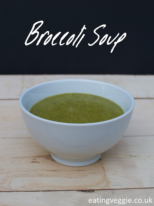 Broccoli Soup, Vegan and Gluten Free