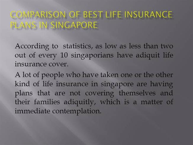 Comparison of Best Life Insurance Plans in Singapore ...